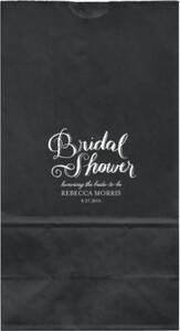 Chalk Bridal Shower Large Custom Favor Bags