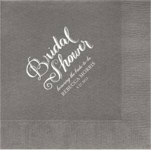 Chalk Bridal Shower Custom Lunch Napkins