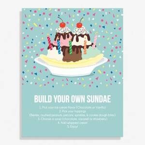 Sundae Large Art Print