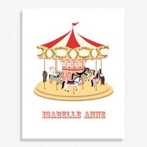 Carousel Large Art Print