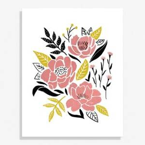 Three Peonies Large Art Print