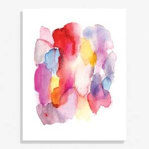 Abstract Watercolor Large Art Print