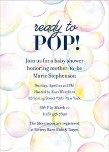 Bubbles Baby Shower...