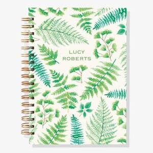 12-Month Ferns Custom Planner