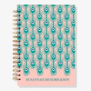 17-Month Peacock Feather Custom Planner