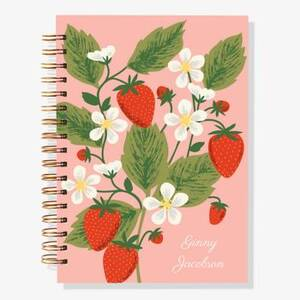 12-Month Strawberry Custom Planner