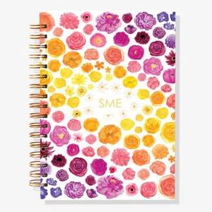 12-Month Rainbow Floral Custom Planner