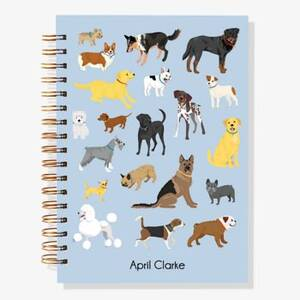 12-Month Dogs Custom Planner
