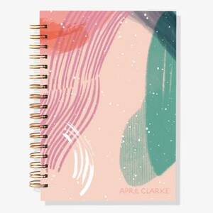 17-Month Abstract Custom Planner