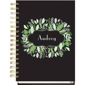 17-Month Greenery Frame Custom Planner