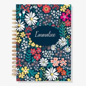 12-Month Tiny Floral Custom Planner