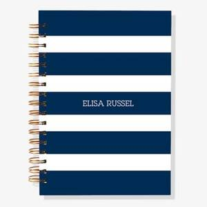 12-Month Navy Stripes Custom Planner