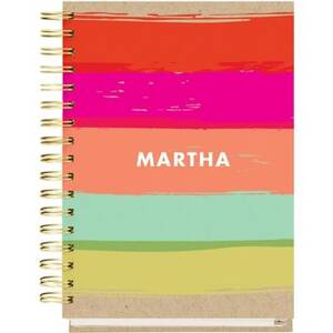 12-Month Painted Stripe Custom Planner