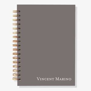 12-Month Slate Solid Custom Planner