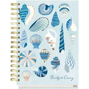17-Month Seashells Custom Planner