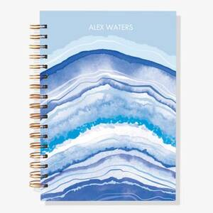 12-Month Blue Geode Custom Planner