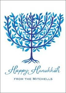 Menorah Tree Holiday Photo Card