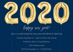New Year Balloons Top Party Invitation