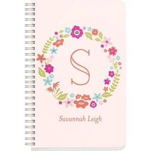 Floral Monogram Custom Journal