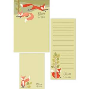 Fox Mixed Personalized Note Pads