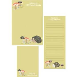 Hedgehogs Mixed Personalized Note Pads
