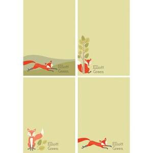 Fox Personalized Note Pads