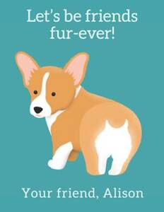 Corgi Custom Valentine Card