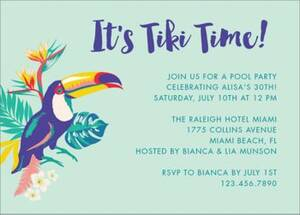 Tiki Time Party...