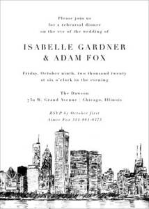 Chicago Rehearsal Dinner Invitation