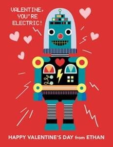 Robot Custom Valentine Card
