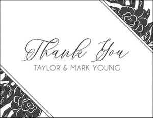 Silhouette Floral Thank You Notes