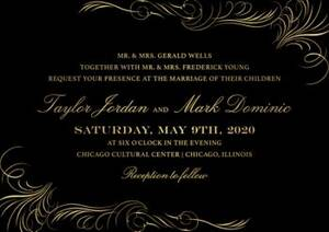 Foil Flourish Wedding Invitation