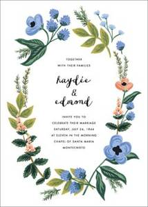 August Herbarium Wedding Invitation