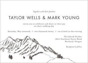 Mountainscape Wedding Invitation