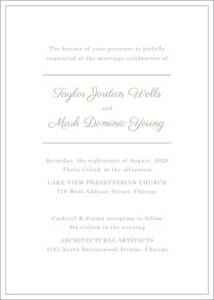 Delicate Border Wedding Invitation