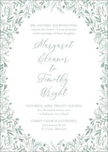 Letterpress Garden Wedding Invitation