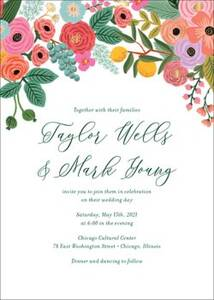 Garden Party Wedding Invitation