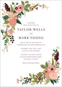 Garden Party Rose Wedding Invitation