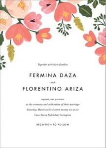 Pastel Petals Wedding Invitation