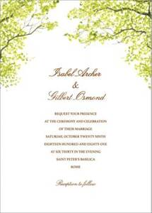 Spring Orchard Wedding Invitation