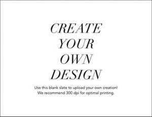Upload Your Own A2 Horizontal Design