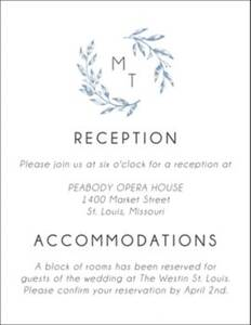 Monogram Leaves Information Card