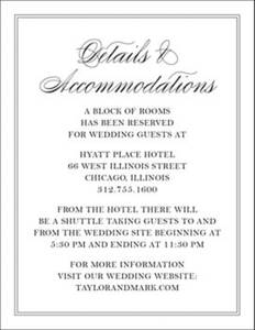 Black Tie Information Card