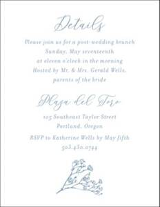 Baby's Breath Information Card