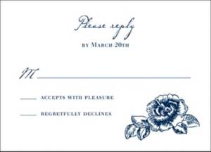 French Toile Response Card