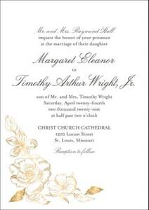 Etched Floral Wedding Invitation