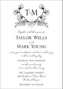 Floral Crest Wedding Invitation