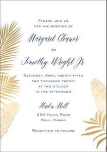 Palms Wedding Invitation