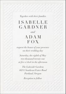 Lattice Wedding Invitation