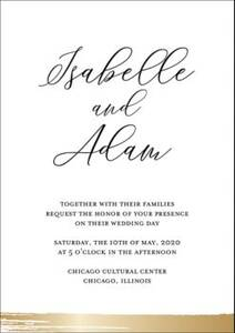 Brushstroke Foil Wedding Invitation